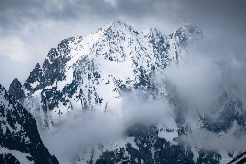 Coucher de soleil sur la Meije - Photos du massif des Ecrins