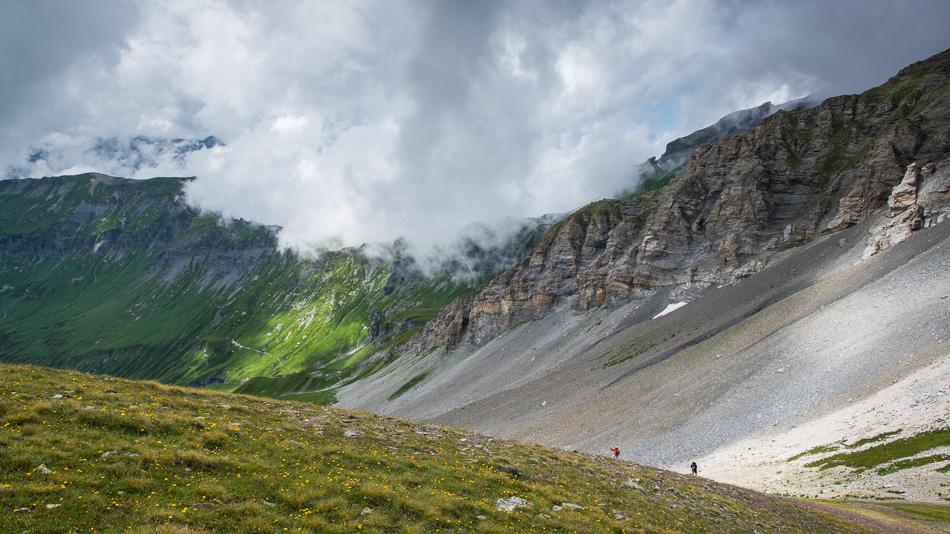 Haute valle de la Diosaz depuis le col de Salenton