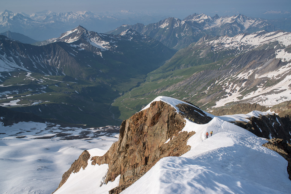 Arête des Lanchettes et vallée des Glaciers