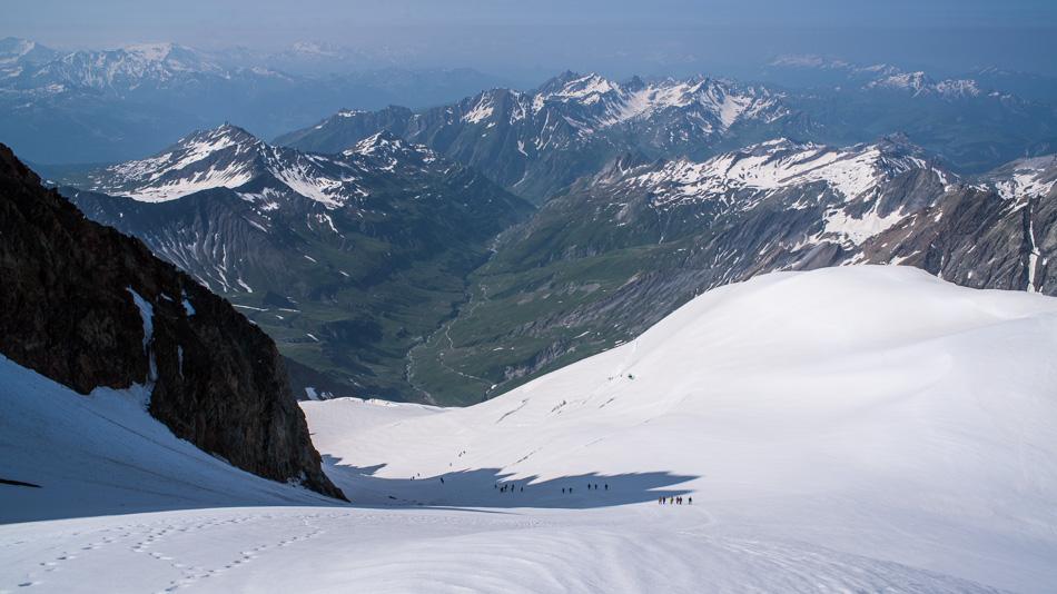 Les glacier des Glaciers et la vallée des Glaciers
