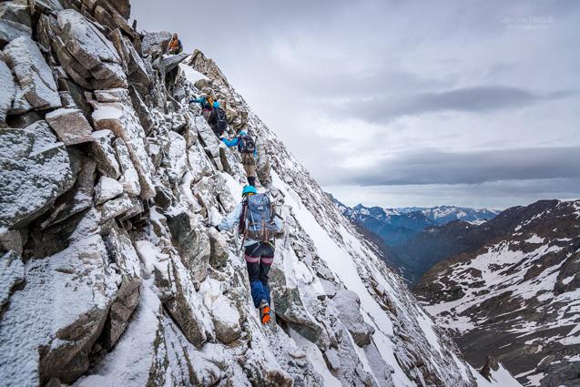 Alpinstes en terrain mixte a la Tete du Replat