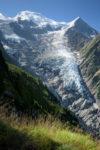Glacier de Taconnaz et Dôme du Goûter. Massif du Mont-Blanc.