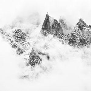 Photos d'art noir et blanc - Aiguille des Deux Aigles en noir et blanc