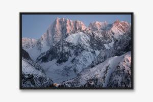 Photo d'art grand format - paysage de montagne en caisse américaine