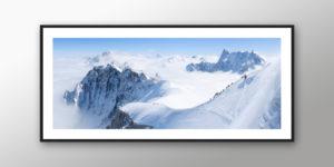 Tableau photo du Massif du Mont-Blanc panoramique couleur