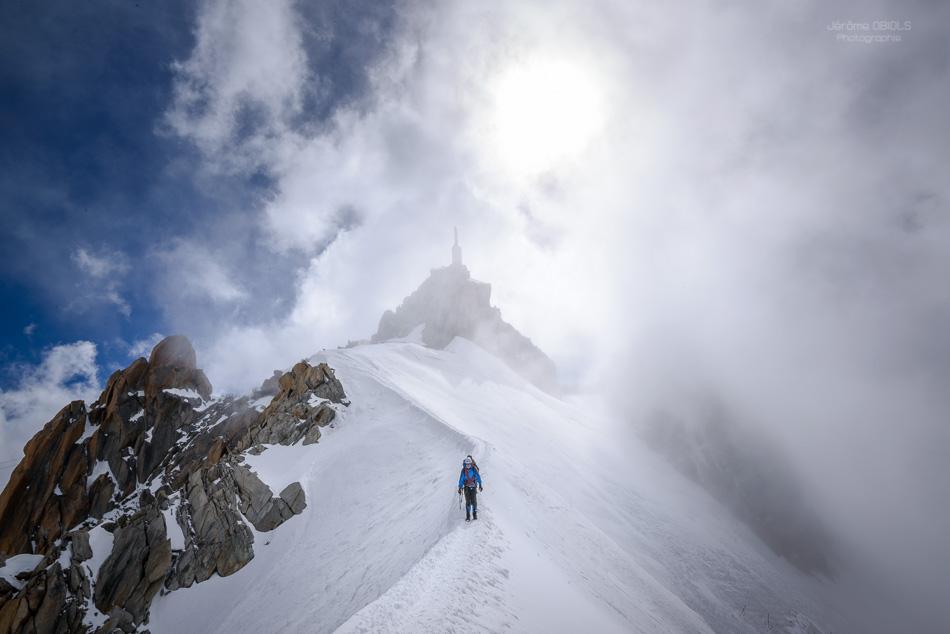 arete de neige de l'aiguille du Midi